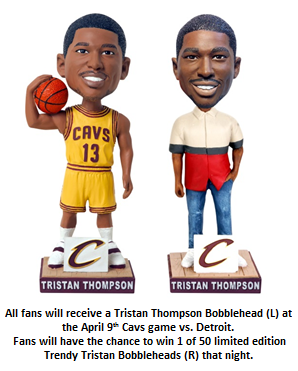 Trendy Tristan Thompson Bobblehead Figure